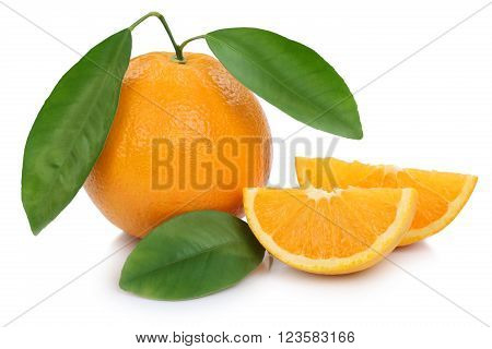Orange Fruit Oranges Fruits Slice Sliced Slices Isolated On White