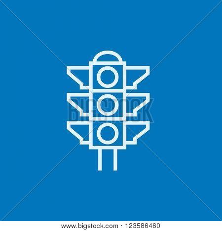 Traffic light line icon.
