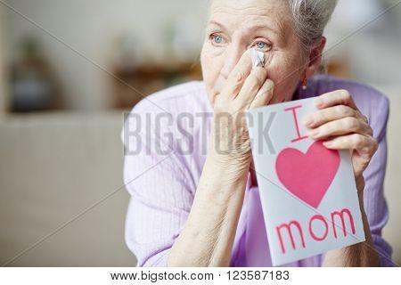 Wiping tears