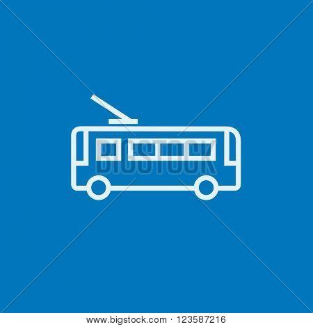 Trolleybus line icon.