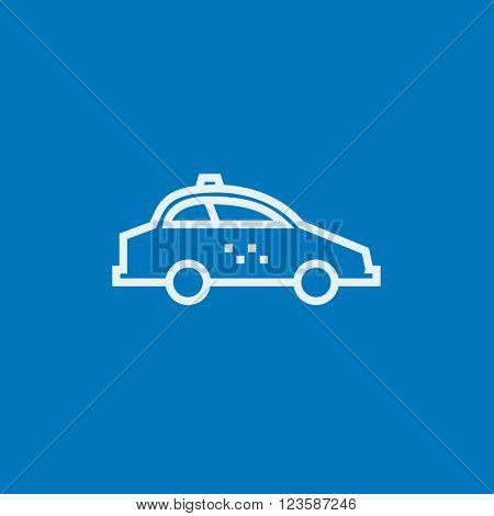 Taxi car line icon.