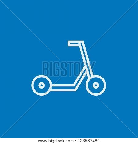 Kick scooter line icon.