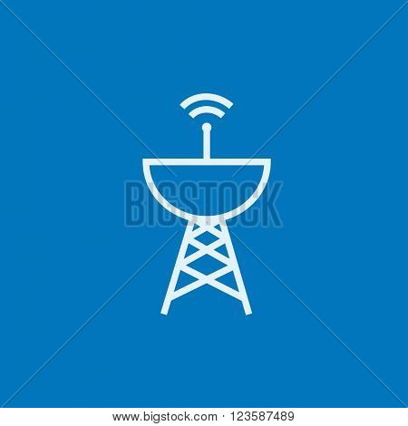 Radar satellite dish line icon