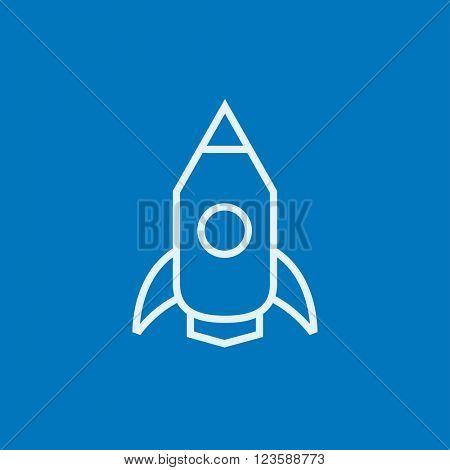 Rocket line icon.