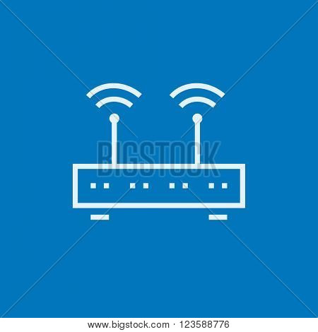 Wireless router line icon.
