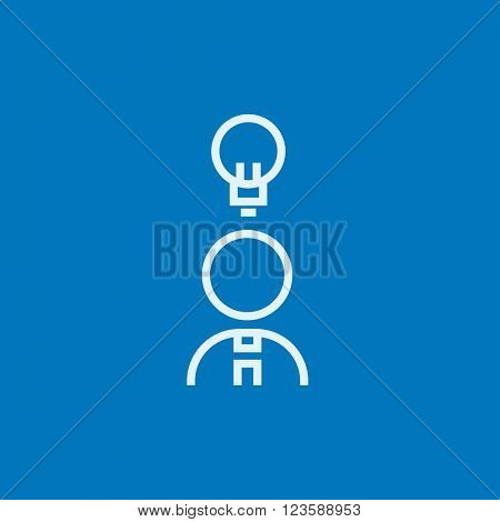 Businessman with idea line icon.