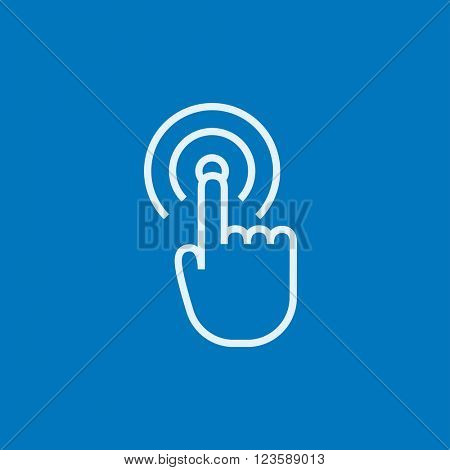 Touch screen gesture line icon.