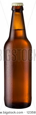 brown bottle; object on a white background