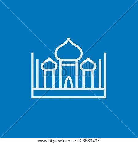 Mosque line icon.
