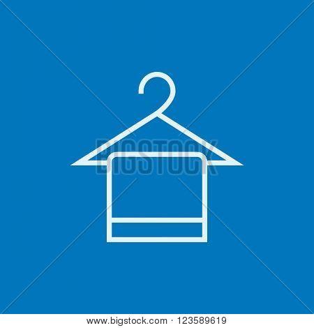 Towel on hanger line icon.
