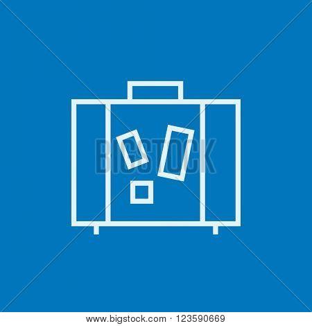 Suitcase line icon.