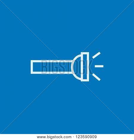 Flashlight line icon.