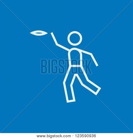 Frisbee line icon.