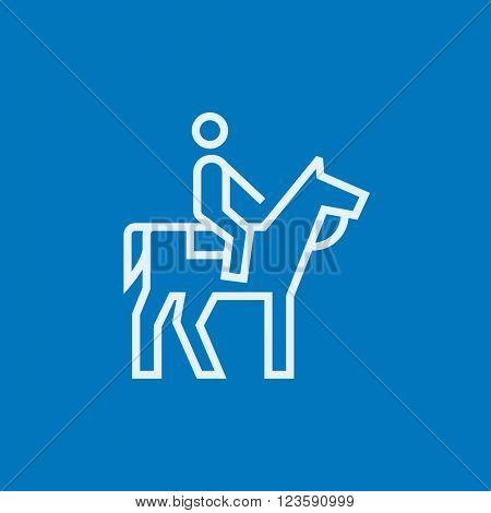 Horse riding line icon.