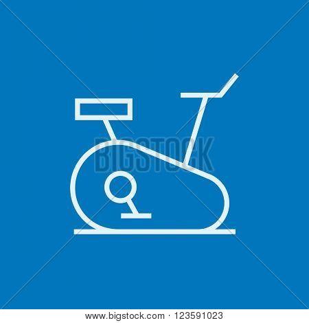 Exercise bike line icon.