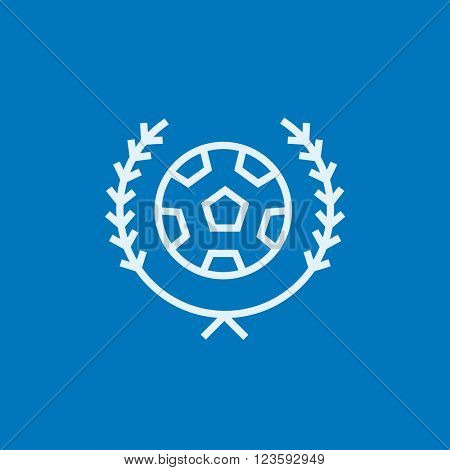 Soccer badge line icon.