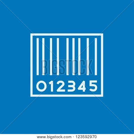 Barcode line icon.