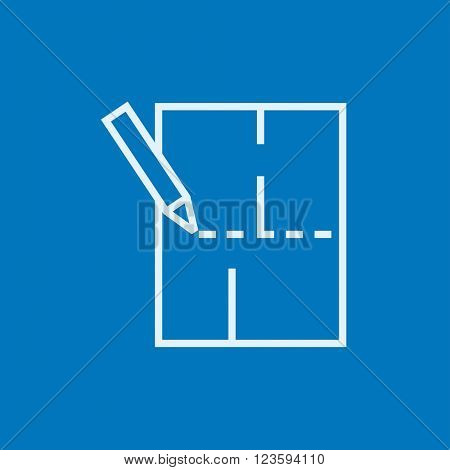 Layout of the house line icon.