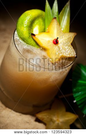 Mai Tai Cocktail - Dark Rum, White Rum, Orange Liquor, Almond Syrup, Lime Juice