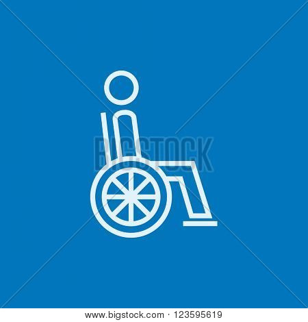 Disabled person line icon.