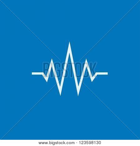 Sound wave line icon.