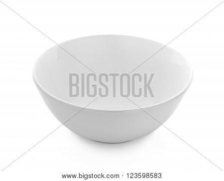 empty White bowl isolated on white background