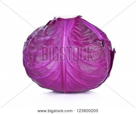 Purple cabbage on white background , food