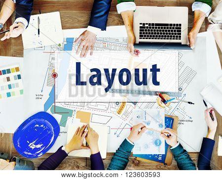 Layout Design City Plan Location Concept