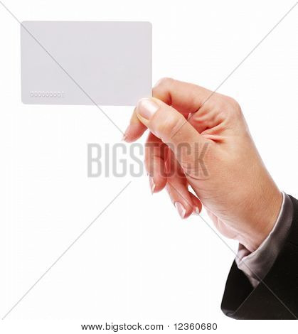 Credit card in the hand of women