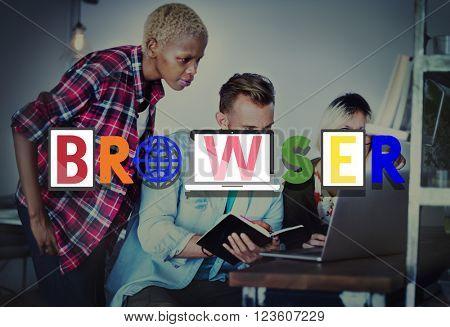 Browser Online Internet Technology Social Network Concept