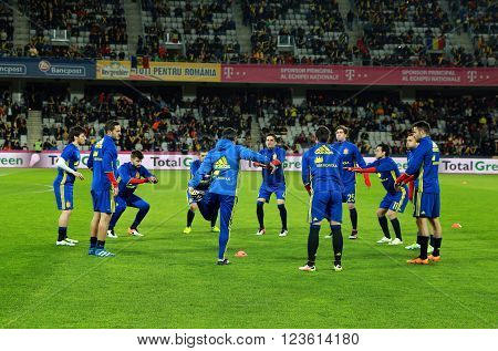 Warm-up Before A Soccer Match