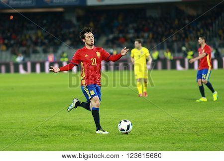 David Silva Football Player In Action