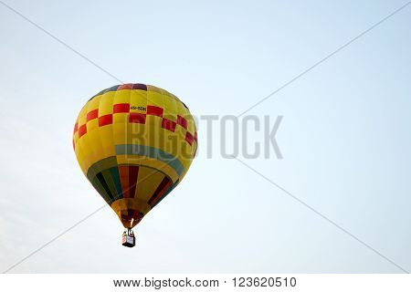 A Hot Air Balloon Flying