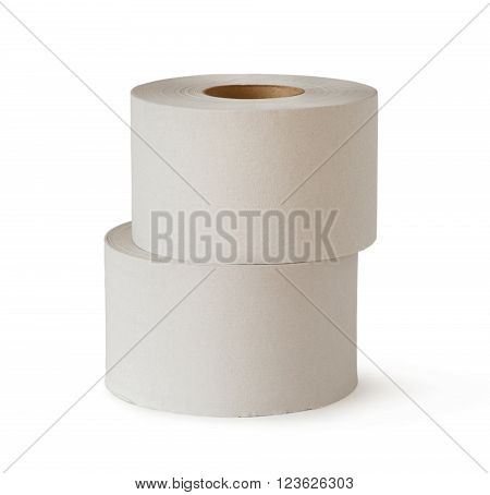 Two White Toilet Paper Rolls