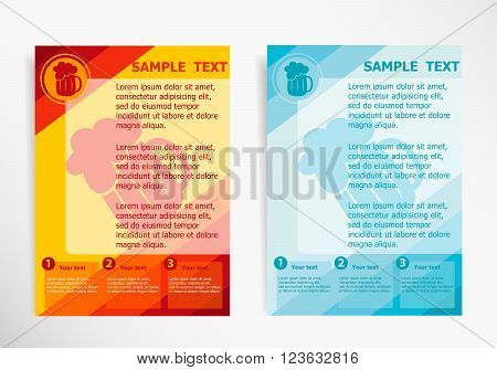 Beer Mug Icon On Abstract Vector Modern Flyer