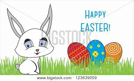 Easter design with cute banny and text