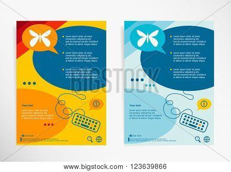 Butterfly On Chat Speech Bubbles