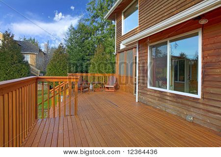 Back Of The House With Deck