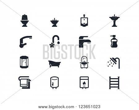 Plumbing, home renovation icons. Lyra series
