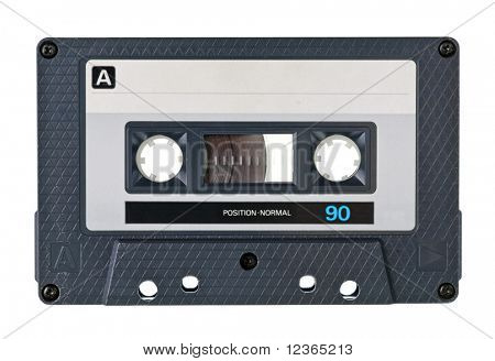 Vintage Compact Cassette on white background