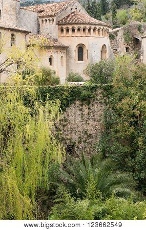 Famous Saint Guilhem le Desert village protected by UNESCO, France