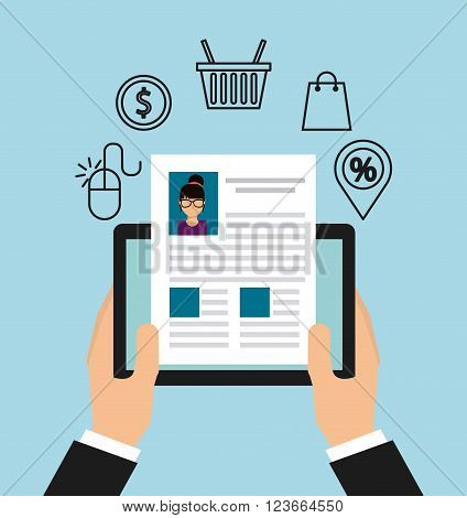 electronic commerce design, vector illustration eps10 graphic