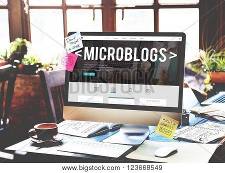 Microblogs Blogging Social Media Online Concept