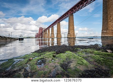 The Firth of Forth is estuary or firth of Scotland 's Rivers Forth,where it flows  into  North sea
