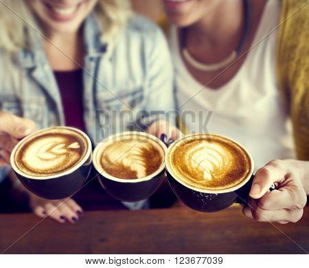 Coffee Shop Cafe Restaurant  Latte Cappuccino Concept