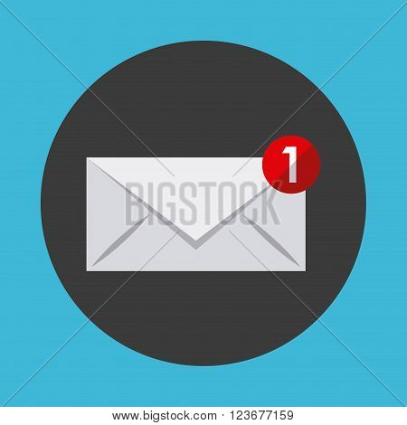 email notification design, vector illustration eps10 graphic