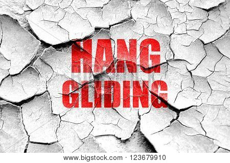 Grunge cracked Hanggliding sign background with some soft smooth lines