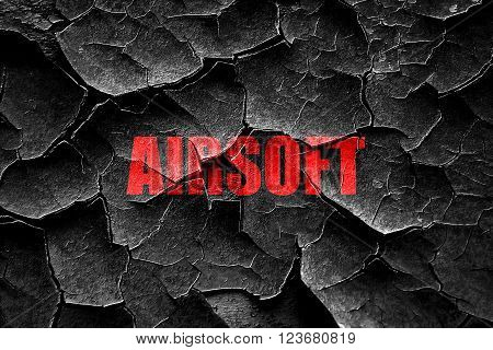 Grunge cracked airsoft sign background with some soft smooth lines