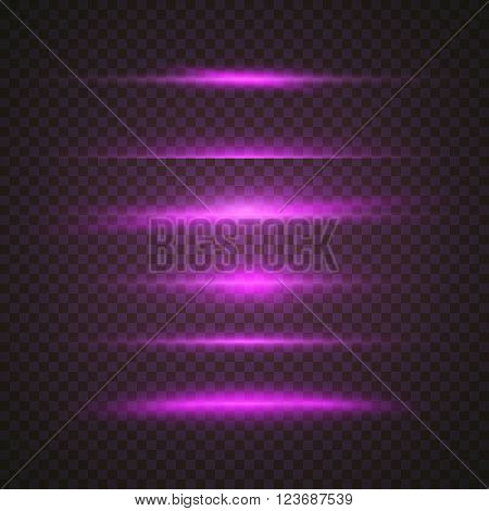 Illustration of Vector Sun Lens Flare Effect. Transparent Vector Overlay Lens Flare Ray Effect. Vector EPS10 Bright Sunflare Explosion Template