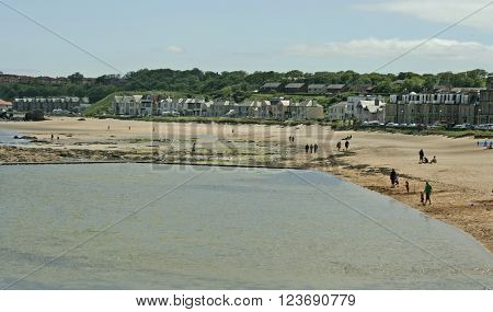 Beach and Harbor View at North Berwick, Scotland